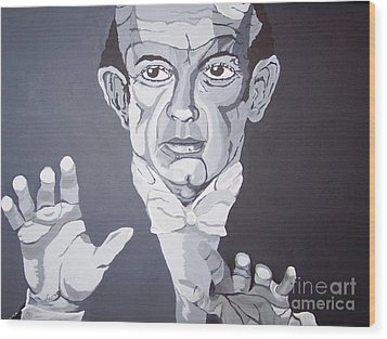 The Conductor Wood Print by Lucia Grilletto