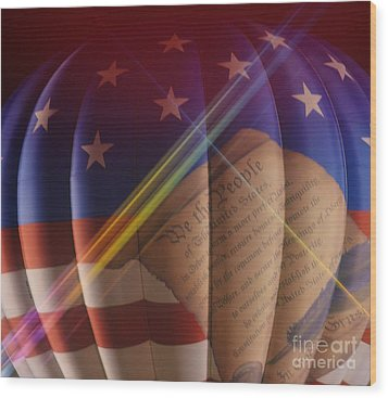 The Constitution Wood Print by Janice Spivey