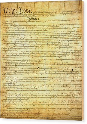 The Constitution Of The United States Of America Wood Print