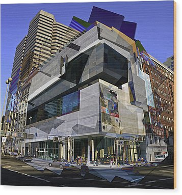 The Contemporary Arts Center Wood Print by Scott Meyer