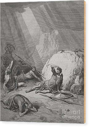 The Conversion Of St. Paul Wood Print by Gustave Dore