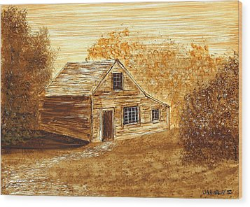 The Cooper's House Wood Print by Dan Haley