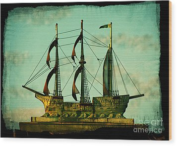 The Copper Ship Wood Print by Colleen Kammerer