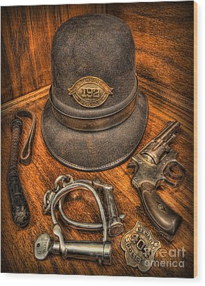 The Copper's Gear - Police Officer Wood Print by Lee Dos Santos