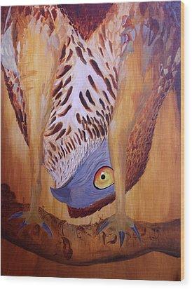 The Corrupted Predator  Wood Print by Amit Thakurta
