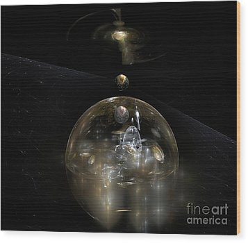 The Cosmic Builder Wood Print by Peter R Nicholls