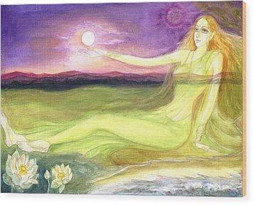 The Cosmic Consciousness Wood Print by Shiva  Vangara