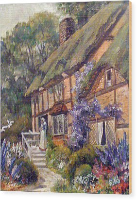 The Cottage Wood Print by Donna Tucker