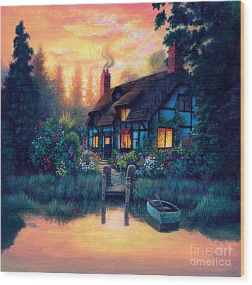 The Cottage Wood Print by MGL Studio - Chris Hiett