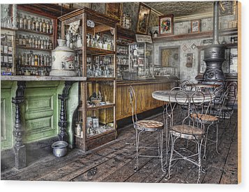 The Counter Wood Print by Ken Smith