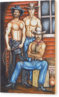 The Cowboy Way Wood Print by Joseph Sonday