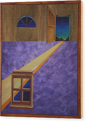 Wood Print featuring the painting The Crack Of Dawn by Stuart Engel