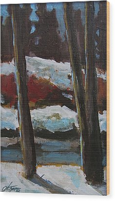The Creek Wood Print by Suzanne Tynes