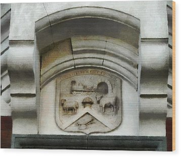 The Crest Of The Christchurch City Council Wood Print