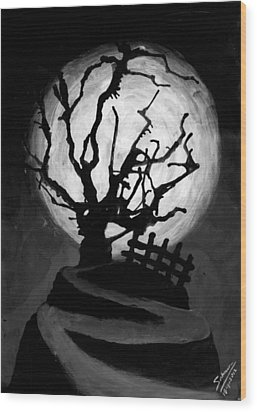 The Crooked Tree Wood Print