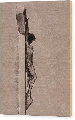 The Cross 2 Wood Print by Derrick Higgins