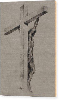 The Cross Wood Print by Derrick Higgins