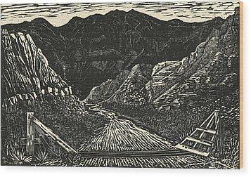 The Crossing Wood Print by Maria Arango Diener