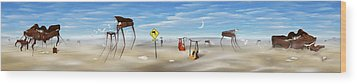 The Crossing Panorama Wood Print by Mike McGlothlen