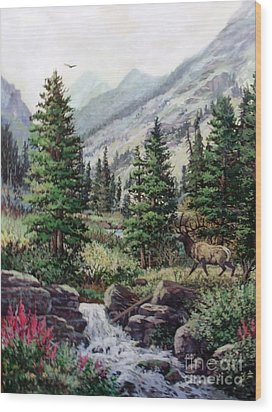 The Crossing Wood Print by W  Scott Fenton