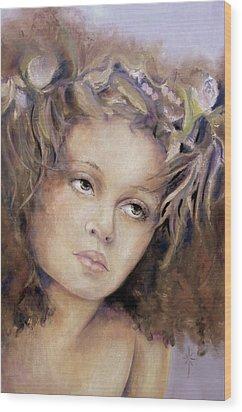 The Crown Wood Print by Jodie Marie Anne Richardson Traugott          aka jm-ART