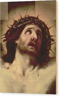 The Crown Of Thorns Wood Print by Guido Reni