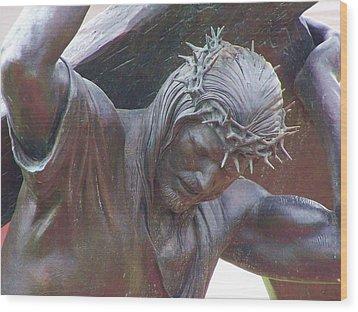 The Crucifixion Wood Print by Jewels Blake Hamrick