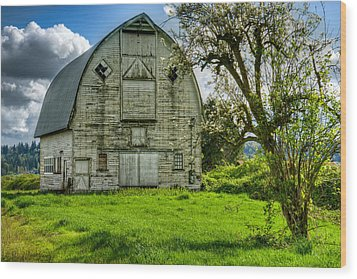 The Crying Barn Wood Print by Spencer McDonald