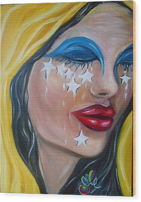 The Crying Flag - La Bandera Que Llora Wood Print