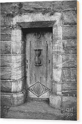 The Crypt Door Wood Print by Avis  Noelle