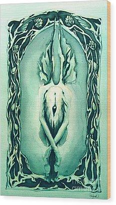 The Crysalis Wood Print by Cari Buziak