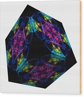 The Cube 13 Wood Print by Steve Purnell