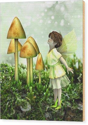 The Curious Fairy Wood Print by Jayne Wilson