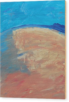 The Curve Of The Beach Wood Print by Lenore Senior