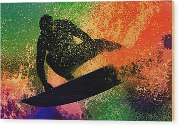 Wood Print featuring the photograph The Cutback by Michael Pickett