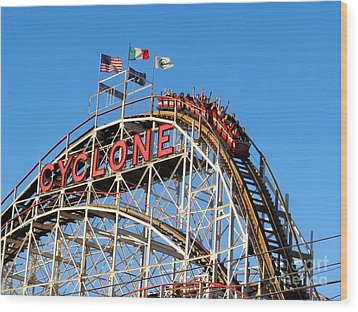 The Cyclone Wood Print by Ed Weidman