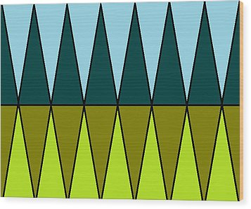 The Cypress Trees  Wood Print by Anita Dale Livaditis