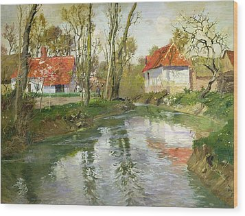 The Dairy At Quimperle Wood Print by Fritz Thaulow