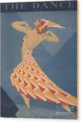 The Dance 1920s Usa Art Deco Magazines Wood Print by The Advertising Archives
