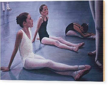 The Dance Class Wood Print by James Welch