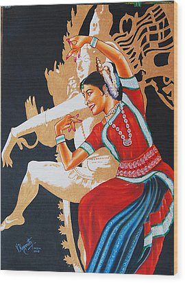The Dance Divine Of Odissi Wood Print by Ragunath Venkatraman