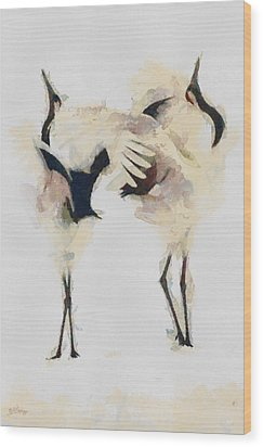 Wood Print featuring the painting The Dance by Georgi Dimitrov