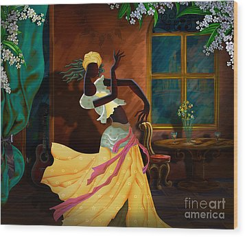 The Dancer Act 1 Wood Print by Bedros Awak