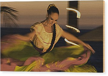 Wood Print featuring the photograph The Dancer II by Chuck Caramella