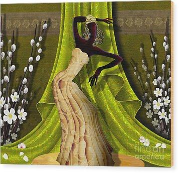 The Dancer V3 Wood Print by Bedros Awak