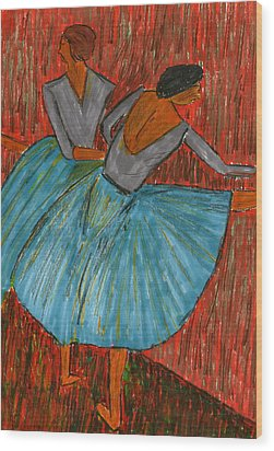 The Dancers Wood Print by John Giardina