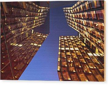 The Dancing Towers Wood Print by Marc Huebner