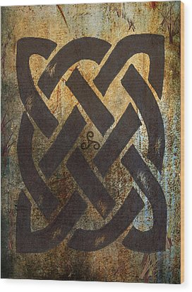 The Dara Celtic Symbol Wood Print by Kandy Hurley