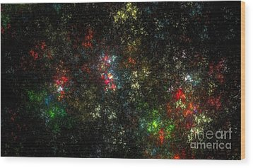 The Dark Side Of Monet Wood Print by Peter R Nicholls
