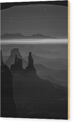 The Dark Side Of The Moon Wood Print by Dustin  LeFevre